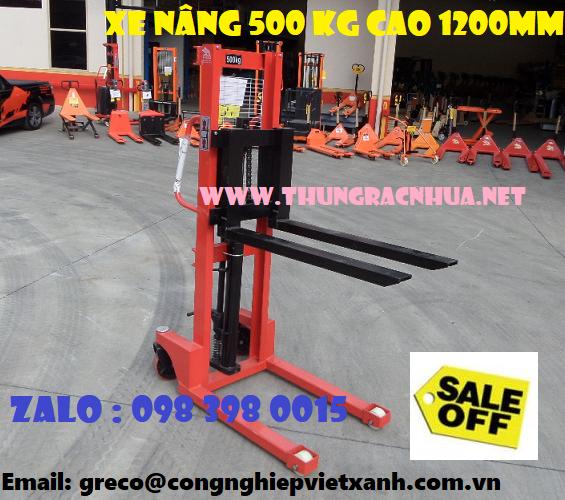 xe nang tay cao 500 kg