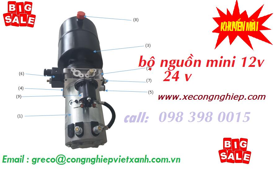 Bộ nguồn thủy lực mini điện áp 12v, 24v